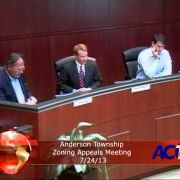 Anderson Township Zoning Appeals Meeting 7/24/13