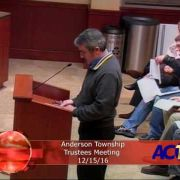 Anderson Township Trustees Meeting 12/15/16