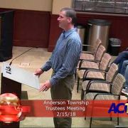 Anderson Township Trustees Meeting 2/15/18