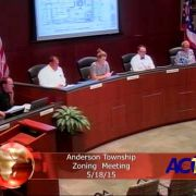 Anderson Township Zoning Meeting 5/18/15