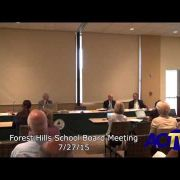 Forest Hills School Board Meeting 7/27/15