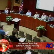 Anderson Township Zoning Appeals Meeting 6/1/17