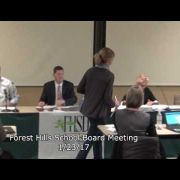 Forest Hills School Board Meeting 1/23/17