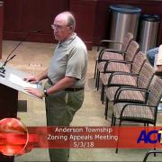 Anderson Township Zoning Appeals Meeting 5/3/18