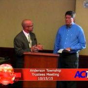 Anderson Township Trustees Meeting 10/15/15