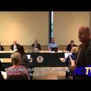 Forest Hills School Board Meeting 9/28/15