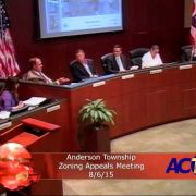 Anderson Township Zoning Appeals Meeting 8/6/15