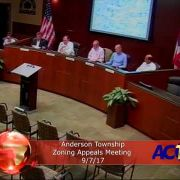 Anderson Township Zoning Appeals Meeting 9//7/17