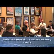 Anderson Township Trustees Meeting 7/9/15