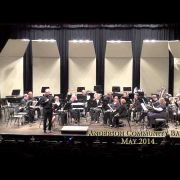 The Anderson Community Band Concert for May 2014