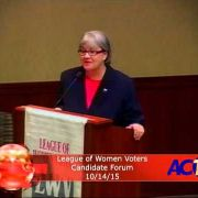 League of Women Voters Candidate Forum 2015
