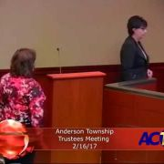 Anderson Township Trustees Meeting 2/16/17