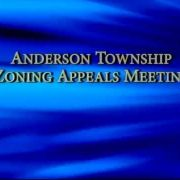 Anderson Township Zoning Appeals Meeting 2/1/18