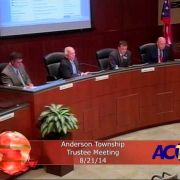 Anderson Township Trustees Meeting 8/21/14