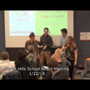 Forest Hills School Board Meeting 1/22/18