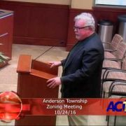 Anderson Township Zoning Meeting 10/24/16
