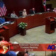 Anderson Township Trustees Meeting 8/18/16