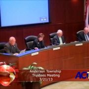 Anderson Township Trustees Meeting 3/21/13