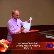 Anderson Township Zoning Appeals Meeting 11/5/15
