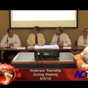 Anderson Township Zoning Meeting 6/6/16