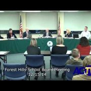 Forest Hills School Board Meeting 12/15/14