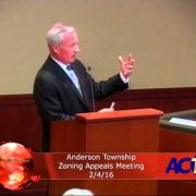 Anderson Township Zoning Appeals Meeting 2/4/16