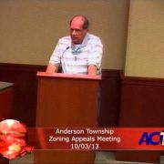 Anderson Township Zoning Appeals Meeting 10/3/13