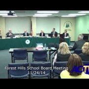 Forest Hills School Board Meeting 11/24/14
