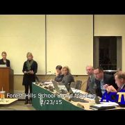 Forest Hills School Board Meeting 2/23/15