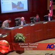 Anderson Township Trustees Meeting 8/20/15