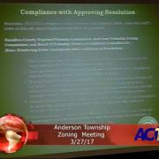 Anderson Township Zoning Meeting 3/27/17