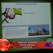 Anderson Township Zoning Meeting 12/19/16