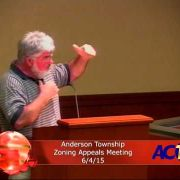 Anderson Township Zoning Appeals Meeting 6/4/15