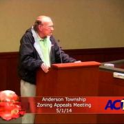 Anderson Township Zoning Appeals Meeting 5/1/14