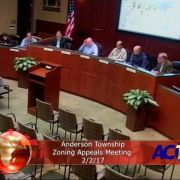 Anderson Township Zoning Appeals Meeting 2/2/17