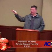 Anderson Township Zoning Appeals Meeting 5/5/16