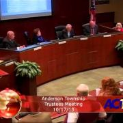 Anderson Township Trustees Meeting 10-17-13