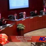 Anderson Township Trustees Meeting 3/19/15