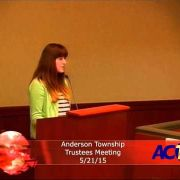 Anderson Township Trustees Meeting 5/21/15