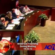 Anderson Township Zoning Meeting 10/22/12