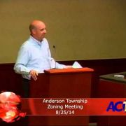 Anderson Township Zoning Meeting 8/25/14
