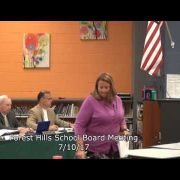 Forest Hills School Board Meeting 7/10/17
