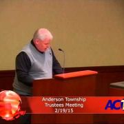 Anderson Township Trustees Meeting 2-19-15