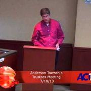 Anderson Township Trustee Meeting 7/18/13