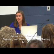 Forest Hills School Board Branding and Mascot Meeting 4/16/18
