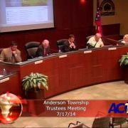 Anderson Township Trustees meeting 7/17/14