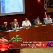 Anderson Township Board of Zoning Appeals Meeting 12/6/12