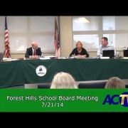 Forest Hills School Board Meeting 7-21-14
