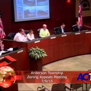 Anderson Township Zoning Appeals Meeting 7/9/15