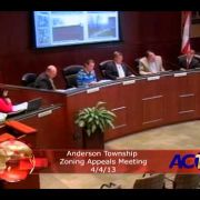 Anderson Township Zoning Appeals Meeting 4/4/13